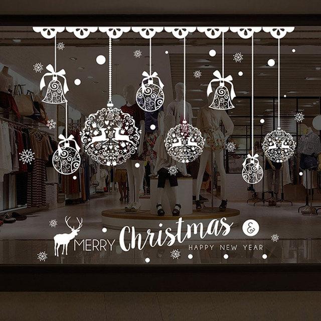 Рождественская оконная Наклейка на стену ПВХ Рождественский фестиваль домашняя стеклянная дверь Съемный Декор Рождественский Декор Наклейка Фреска Прямая доставка