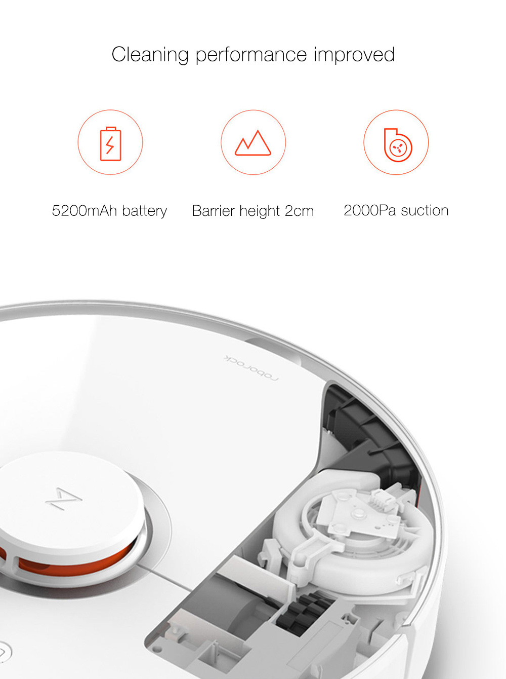INTERNATIONAL VERSION XIAOMI MIJIA ROBOROCK VACUUM CLEANER 2 AUTOMATIC AREA CLEANING 2000PA SUCTION 2 IN 1 SWEEPING MOPPING FUNCTION 256393 11
