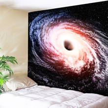 Galaxy Space Clouds Art Tapestry Black Hole Wall Hanging Star Nebula Psychedelic Tapestries Boho Hippie Custom DIY
