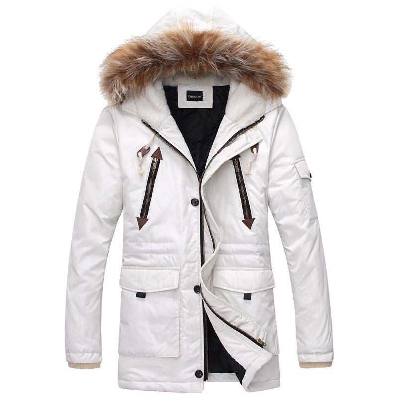 New White Parka Men 2016 Winter Jacket Men Fashion Men&39s Fur