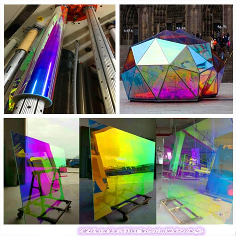 FILM de fenêtre coloré TRANSPARENT vitrail vinyle auto-adhésif FABLON 68 cm X 30 m par rouleau
