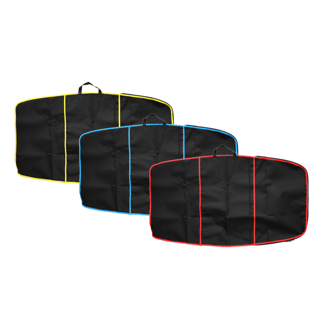 """Deluxe Surf Bodyboard Carrying Bag Cover 49"""" x 28"""" Durable Body Board Bodyboarding Surfing Equipment Gear Pouch w/ Front Pocket"""