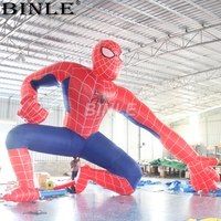 Custom most popular 6m giant inflatable spiderman/spider man cartoon hero model balloon for advertising