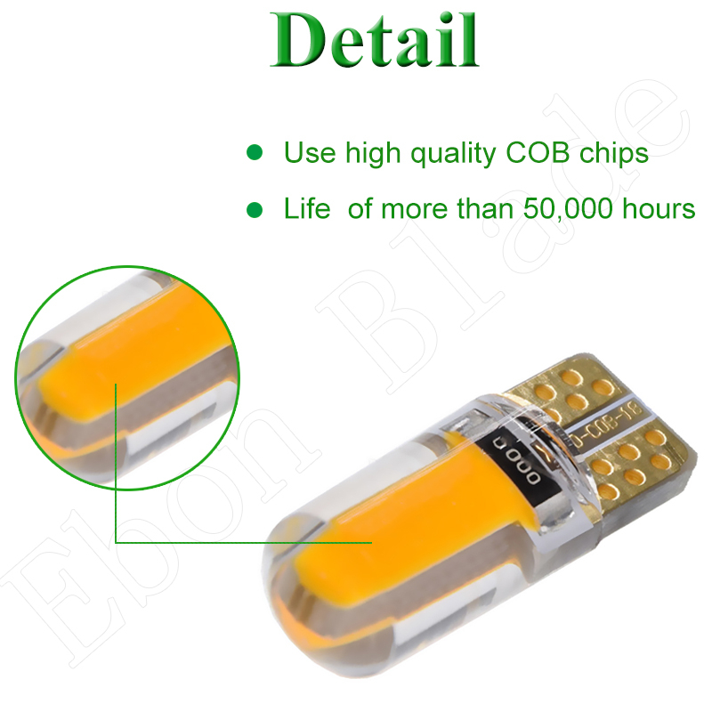 Image 3 - 2 X Yellow Amber Led T10 W5W COB Car LED Lighting Marker Lamp Interior Side Light Warning Parking Clearance Bulb Lights 12V Auto-in Signal Lamp from Automobiles & Motorcycles