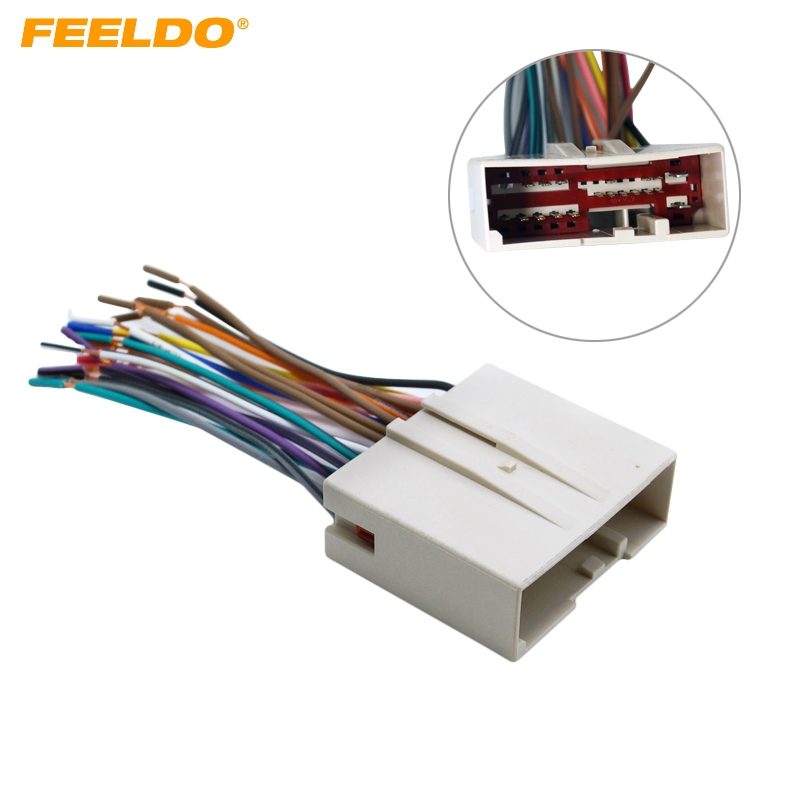Feeldo 1pc Car Radio Cd Player Wiring Harness Audio Stereo