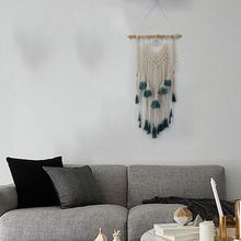 Macrame Woven Wall Hanging Tapestry Handmade Boho Chic Bohemian Art Apartment Tassels Dorm Room Home Decoration cotton fringed handmade woven wall hanging art