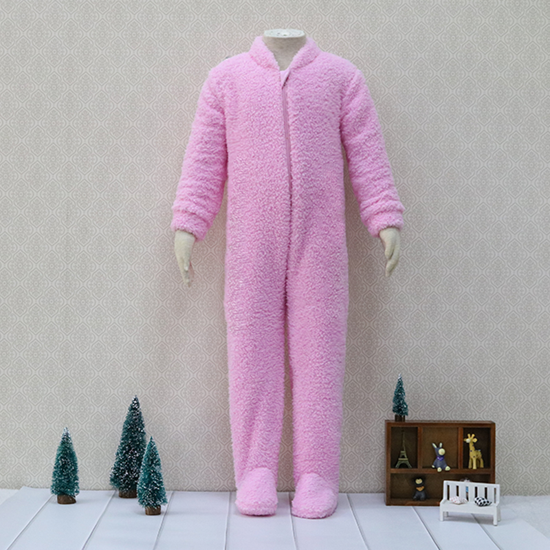 Zowel-side verhoogde flanellen Een Stukken Bodysuits Kids pyjama Kinderen slaper Rits Warm Baby Jongens Kleding kerst