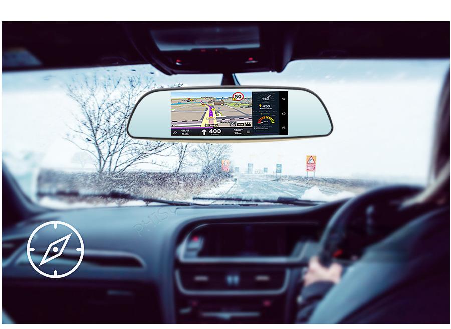 Авторегистратор Регистратор-зеркало D35 (LCD 7