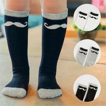 Calcetines para niños pequeños calcetines hasta la rodilla de dibujos animados para bebés con gran lazo de encaje calcetines de algodón negros media blanca para niñas calentadores de niños