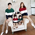 1 Piece Family Look 2016 Mommy and Me Clothes Autumn Matching Family Clothing Mother Daughter Father Baby Long Sleeve T-shirt
