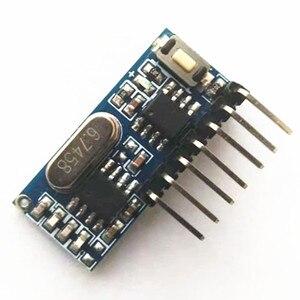 Image 3 - 433MHz drahtlose empfänger und fernbedienung transmitter learning code 1527 decodierung modul 4 kanal ausgang mit lernen taste