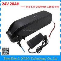 24V 500W Battery 24V 20Ah Electric Bike Battery 24 Volt Hailong 7S Lithium Battery with 5V 1A USB 29.4V 3A Charger
