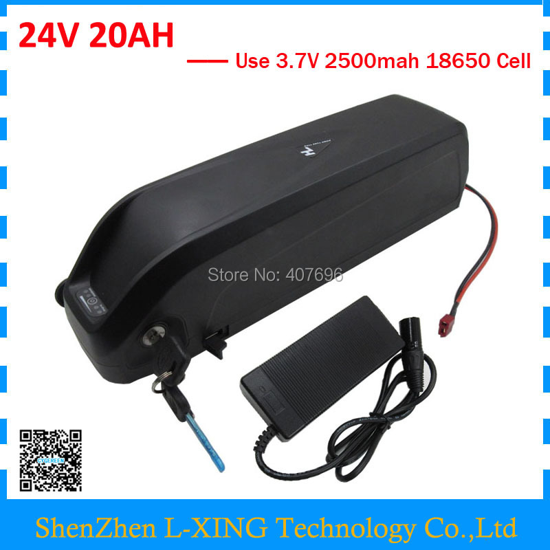 EU US Free Tax 24V 500W Battery 24V 20Ah Electric Bike Battery 24 Volt Hailong 7S Lithium Battery with 5V USB 3A Charger free shipping 700w 24v lithium battery 24v 20ah electric bike battery 24 v battery with 30a bms 29 4v 3a charger