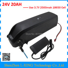 EU US Free Tax 24V 500W Battery 24V 20Ah Electric Bike Battery 24 Volt Hailong 7S Lithium Battery with 5V USB 3A Charger