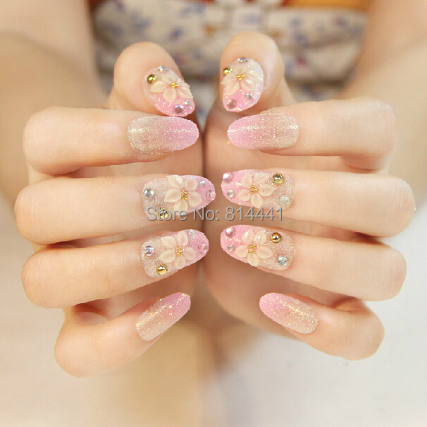 Wedding Nail Decoration 24pcs Artificial Nails With Pretty Woman