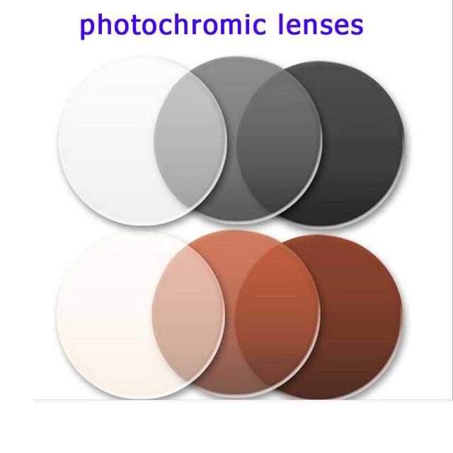myopia sunglasses anti-radiation grey/brown color to eye glasses photochromic lenses 2pcs/pair optical prescription glasses