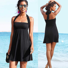 Women Bathing Suit Cover-Ups Beach Wear Ladies Sexy Pure Color Swimsuit Summer Beach Dresses Sexy Bandage Swimwear