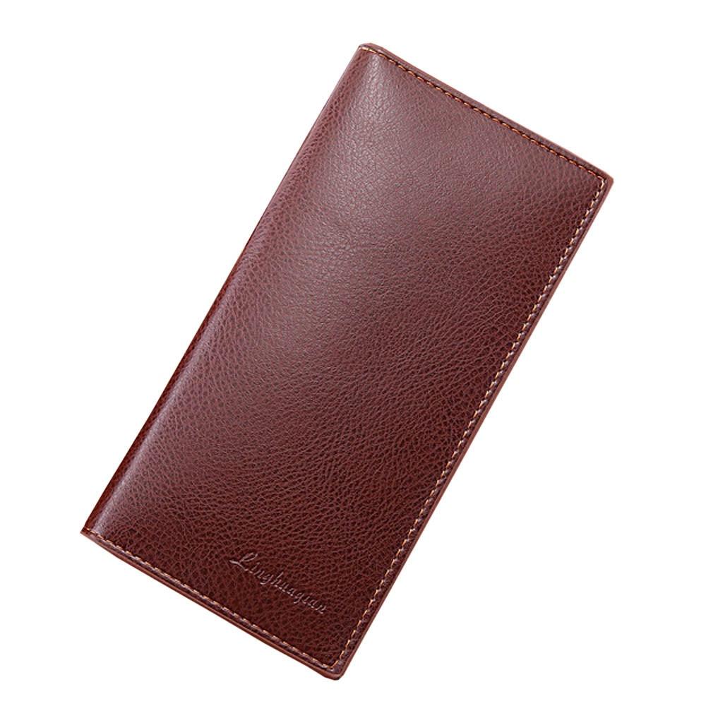 Men Wallet Leather Concise Money Bag Huge Capacity Purse Card Holder Clutch Male Wallet Coin Purse Purse portemonnee