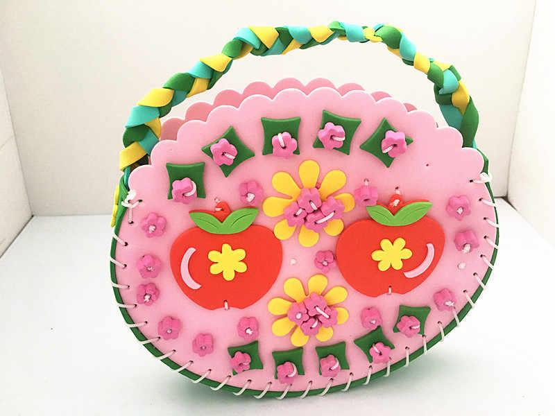 Happyxuan 4 шт./Партия DIY искусство и наборы для ремесла материал для детский эва швейная сумка фоторамка детский сад обучающие игрушки для девочек