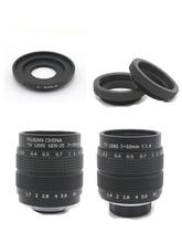 2 in 1 50mm F1.4 CCTV/35mm F1.7 CCTV Monitor TV Movie lens+C Mount for Canon EOS M M2 M3 M5 M10 Mirrorless Camera C-EOS M
