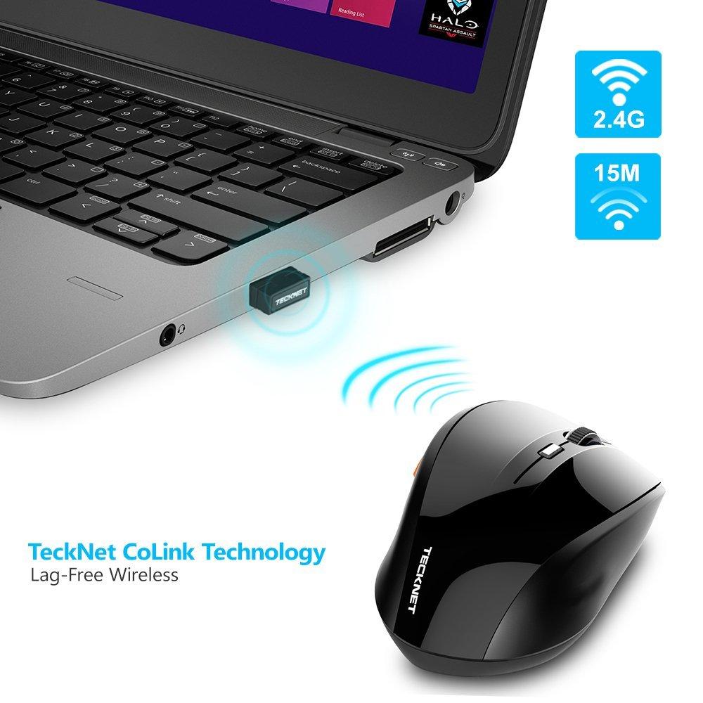 Tecknet 2018 Nuevo Ratón óptico USB inalámbrico 2.4G Receptor 6 - Periféricos de la computadora - foto 3