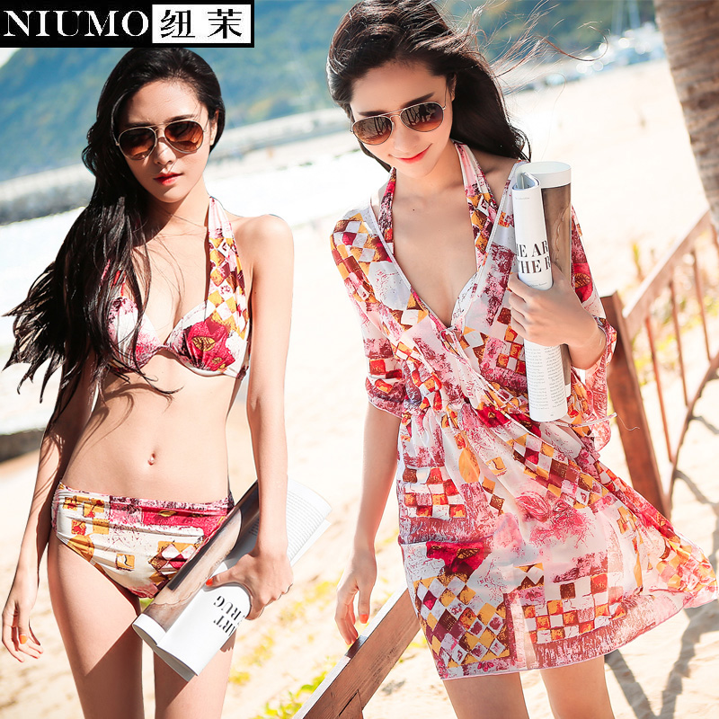 NIUMO New Swimsuit female small breasts together steel bracket conservative show thin and sexy  bikini three-piece bathing suit 2018 direct selling springs swimming clothes bikini three pieces of small breasts the steel sexy shading thin korean swimsuit