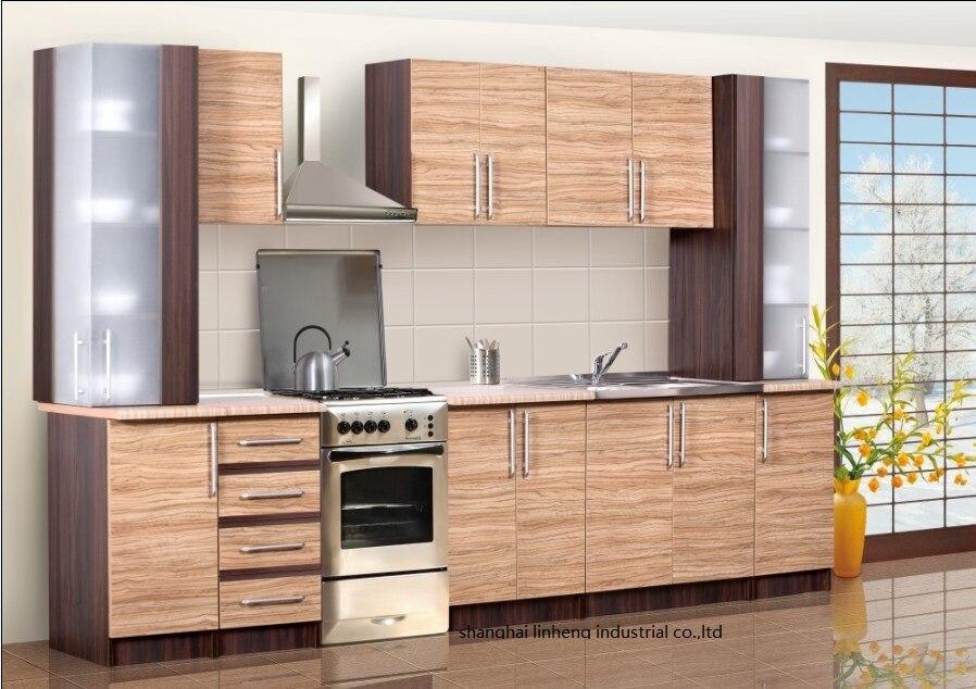 Melamine/mfc Kitchen Cabinets(LH-ME036)
