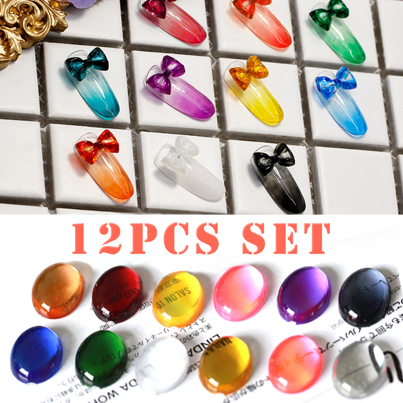 12Pcs Glass Gel Set 7ml Transparent Texture Of UV Gel Soak Off Gel Nail Polish Varnish Lacquer Special Coloured Glaze Manicure china glaze china glaze gelaze gel n base polish sexy silhouette 81676 9 76