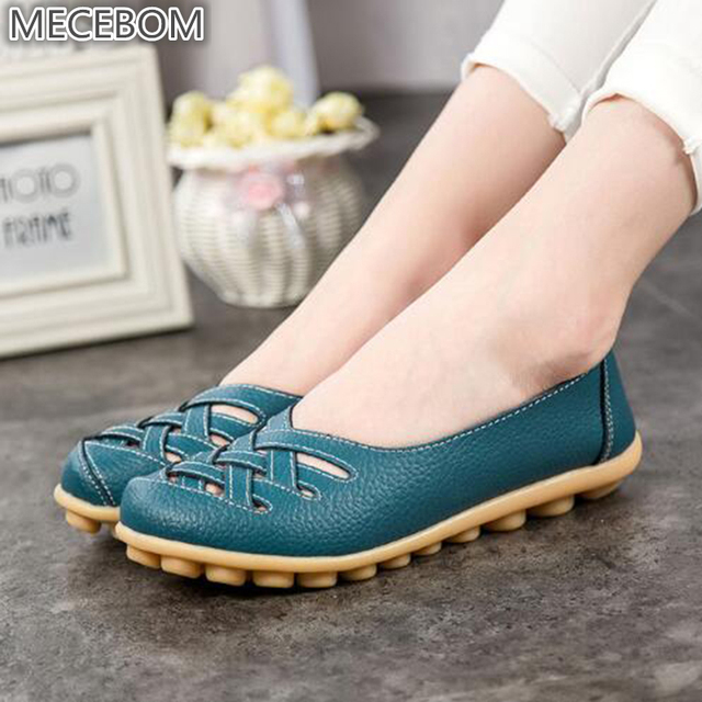 1cf96c311805 Весна 2018, новые модные кожаные женские мокасины на плоской подошве, удобная  женская обувь с