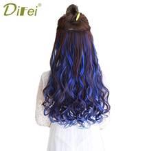 DIFEI 15 цветов длинные вьющиеся накладные волнистые волосы 5 клипсов в высокой температуре волокна синтетические поддельные волосы