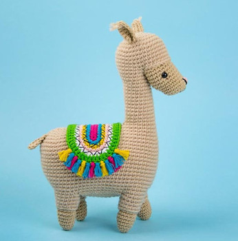 crochet armigurumi  rattle llama  model number  8119