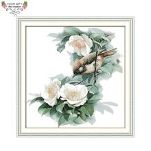 Joy Sunday D709 14CT 11CT Stamped and Counted Home Decoration Yuhina Cross Stitch Kits