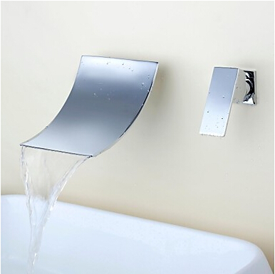 wall of the cold and hot water tap copper concealed washbasin Single hole basin faucet Stainless steel waterfall faucet LT-304-4 wall of the cold and hot water tap copper concealed washbasin single hole basin faucet stainless steel waterfall faucet lt 304 4