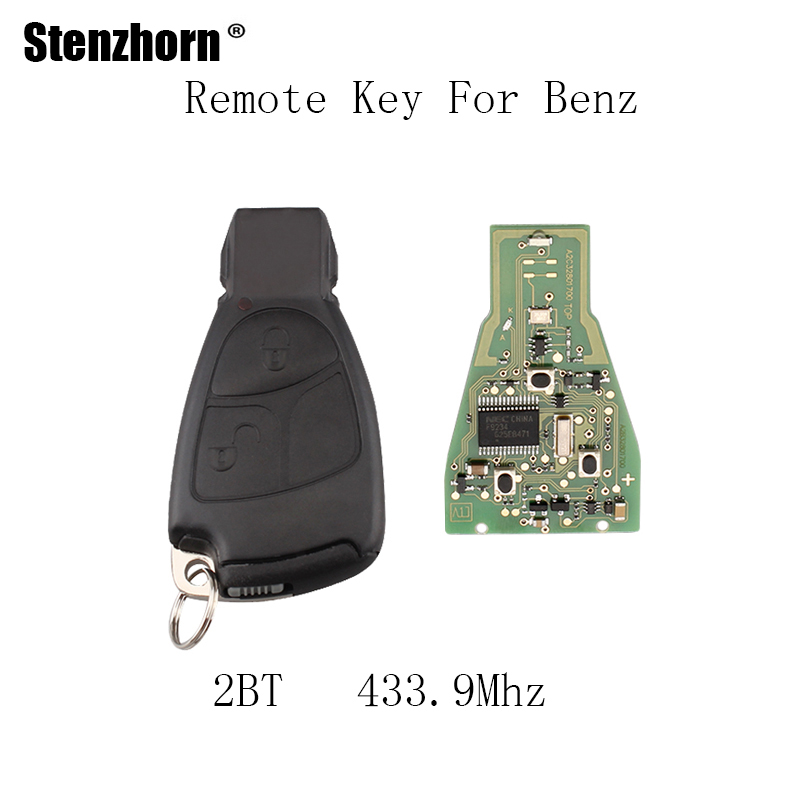 Stenzhorn 2Buttons 433.9Mhz Complete Remote Key For Mercedes Benz C E ML Class 1999-2010 With Blade