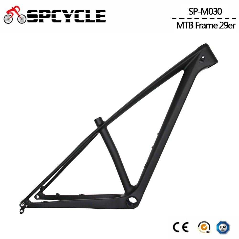 Spcycle 29er Full Carbon Mountain Bike Frame T1000 Carbon MTB Bicycle Frame 2.35