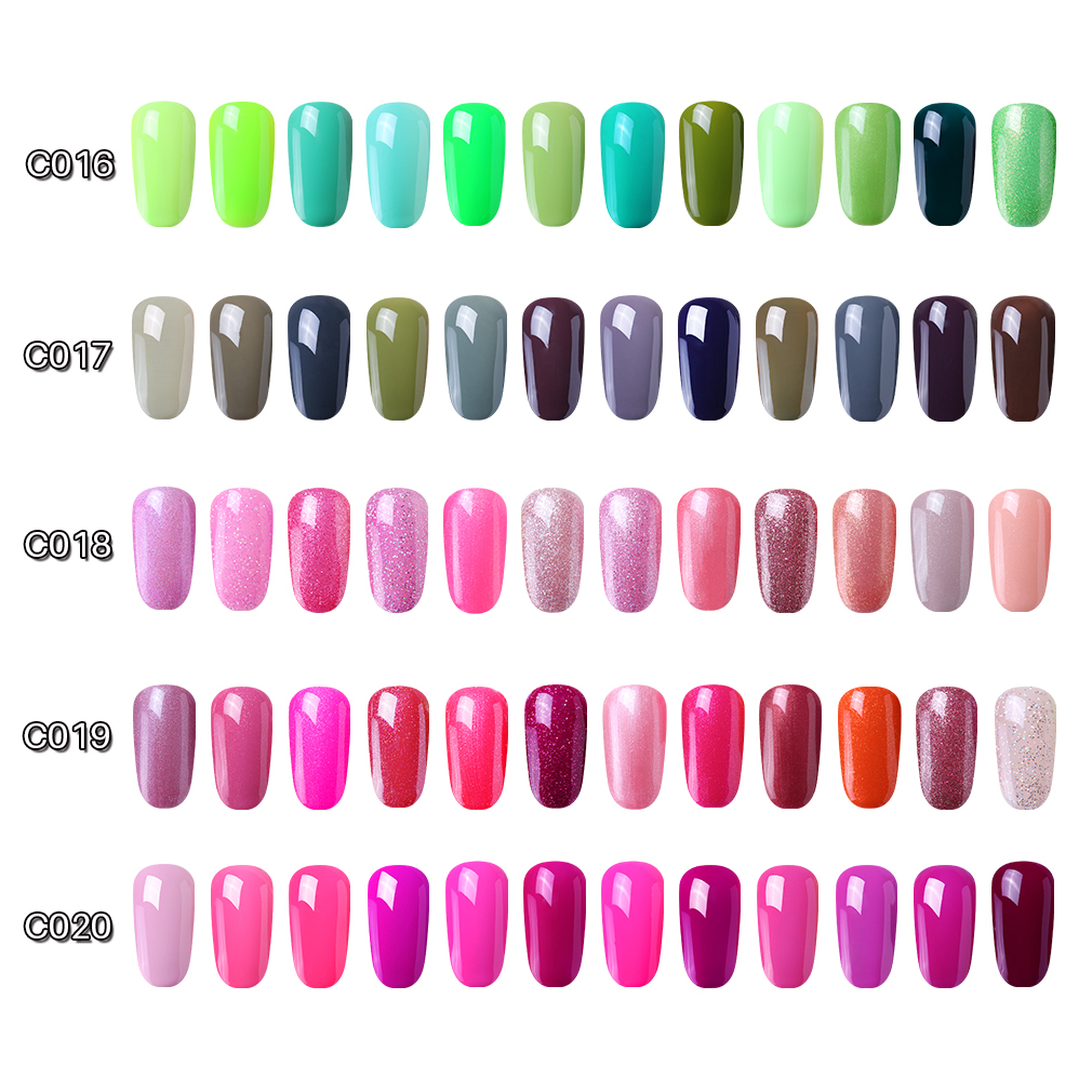 Elite99 12pcs 10ML Color Gel Nail Set UV Gel Nail Polish Art Semi Permanent Esmalte GelLak Hybrid Varnishes Nail Kit GIFT BOX