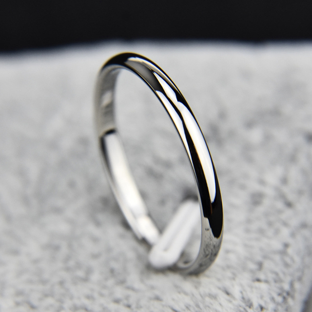 Simple Fashion Stainless Steel Rose Gold Finger Thin Ring Rose Gold/Silver Ring For Women Girls Fine Jewelry Anillos Size 4-10