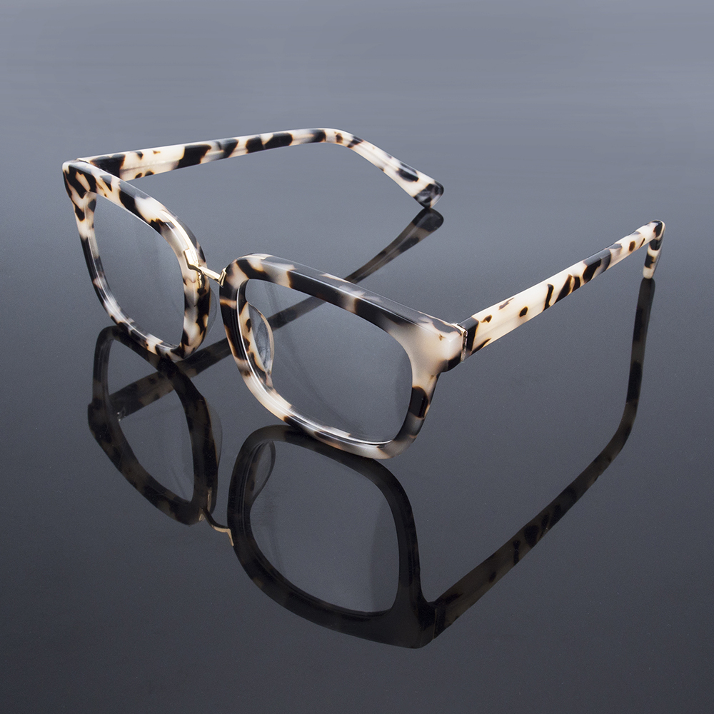 Big frame acetate fashion retro male and female faded leopard eye OP21170