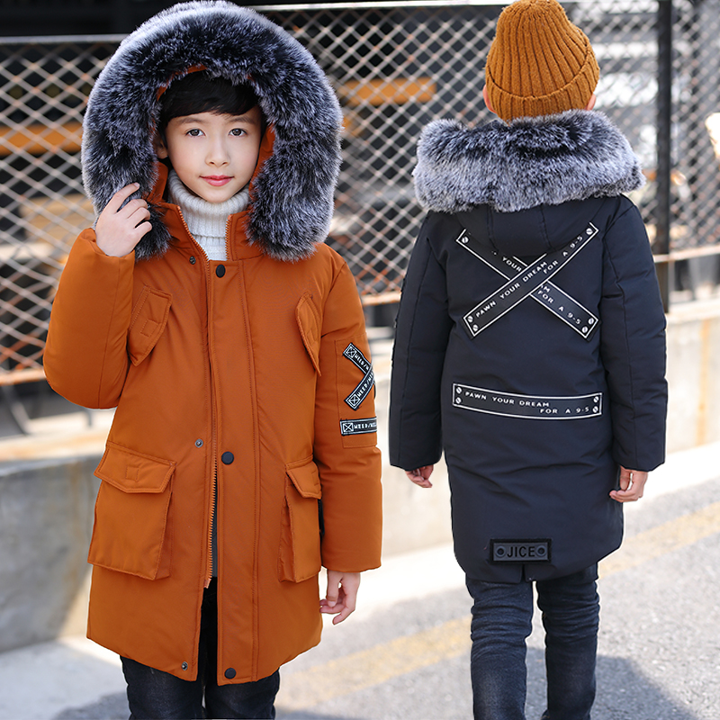 2018 Children Boys Winter Long Jacket For Kids Boys Casual Hooded Coat Children Clothing Outwear Kids Parka Jacket Snowsuit Tops boy winter coat jacket children winter jackets for boys casual hooded warm coat kids clothing outwear fashion boys parka jacket