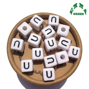 Image 4 - Beads for Jewelry Making Letter Beads 10mm 550pcs A Z Separate Alphabet Beads White Beads Square Beads for Kids Acrylic Beads