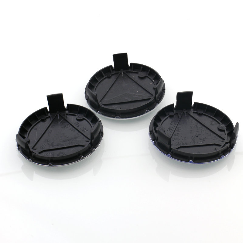 4pcs 75mm 3 pin Wheel center Hub Caps Cover cap Car Logo Emblem For Mercedes A B C CLA CLS G M R S Class Styling A1714000025 hombres g cap roig