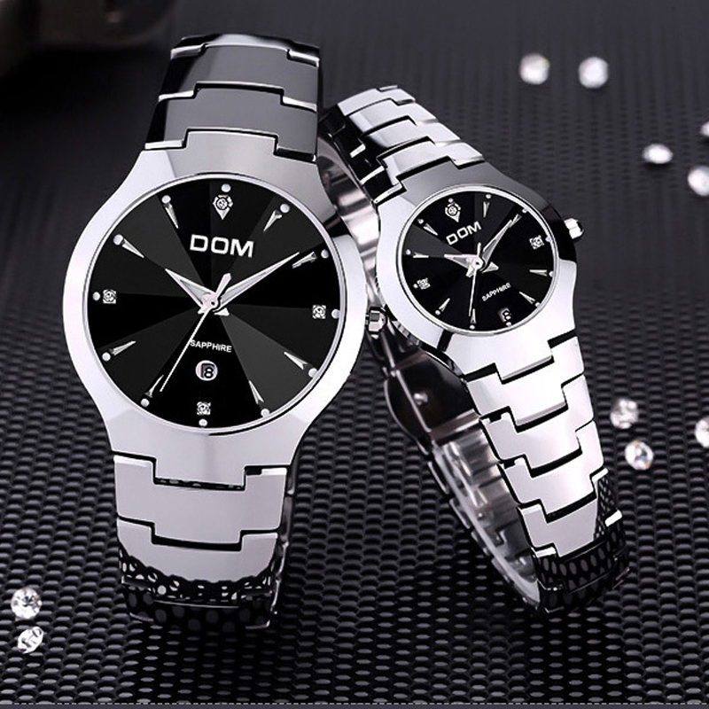 DOM 698 Mens Watches Top Brand Luxury Quartz Fashion Watch Tungsten Steel Waterproof Watch Montre Luxury Watch Casual lovers