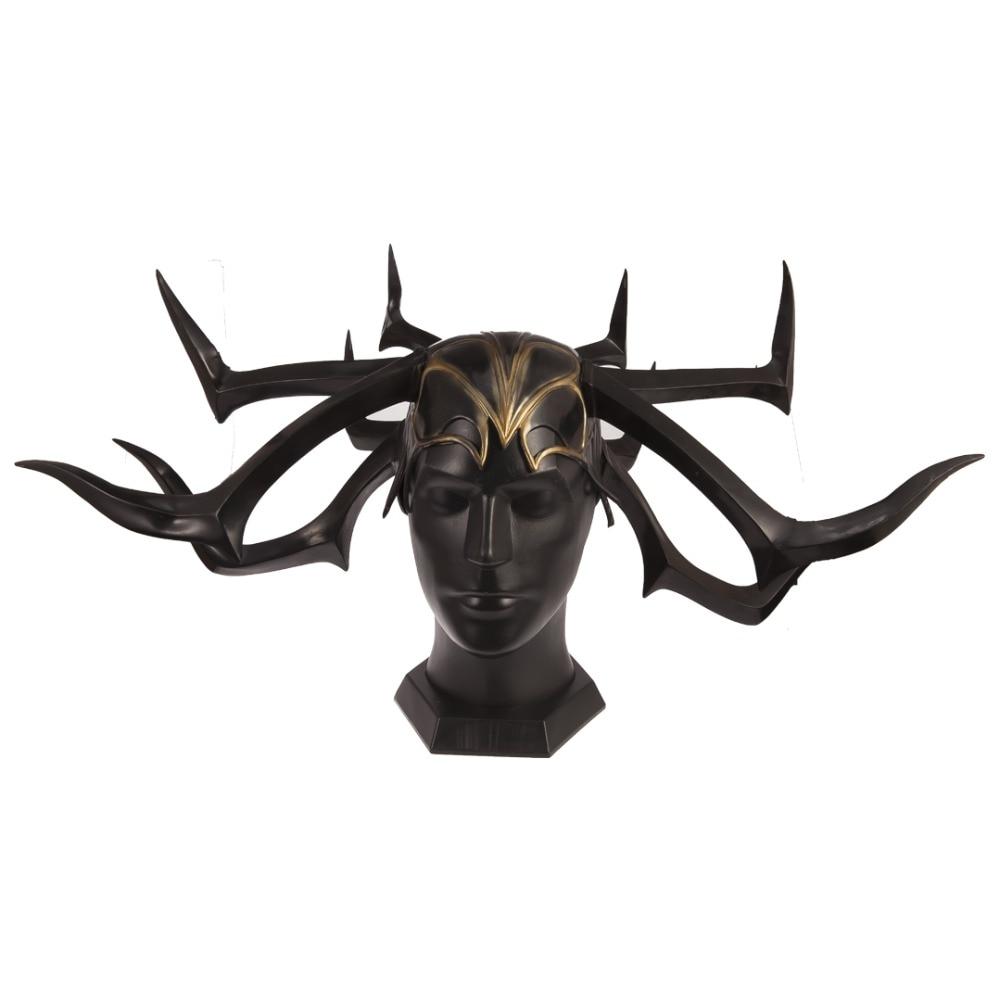 Thor Hela mask Halloween mask PVC Cosplay Helmet Headgear