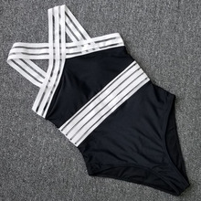 Sexy Mesh One Piece Swimsuit Swimwear Women Push Up Monokini Plus Size Bathing Suit Female Beach Black Bodysuit Swim Suit Bather цена