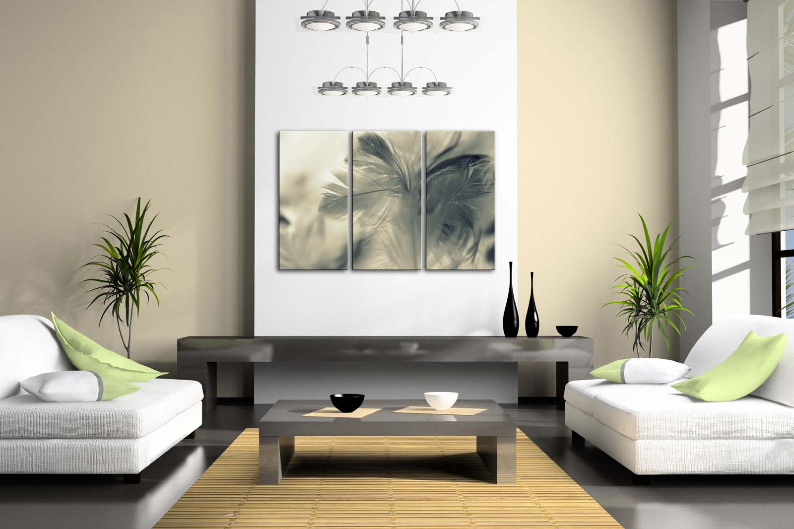 Encadrée mur Art photos gris plume toile impression Art moderne affiche avec cadre en bois pour salon maison bureau décor - 2