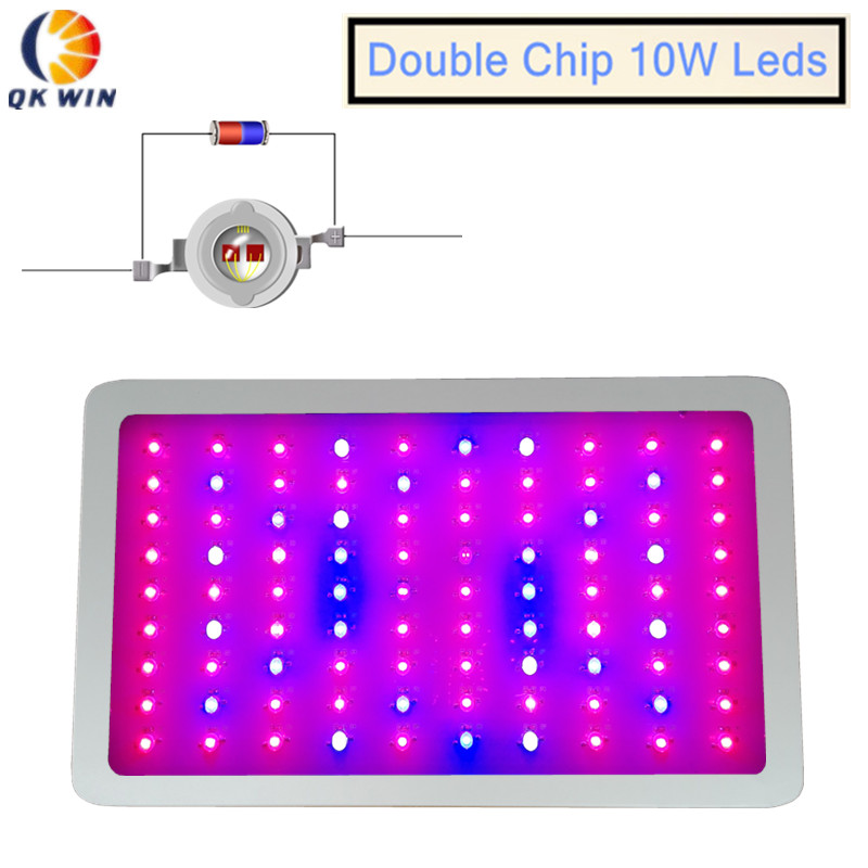 Mayerplus 900W Double Chips LED Grow Light Full Spectrum 410-730nm For Indoor Plants and Flower Phrase, Very High Yield.