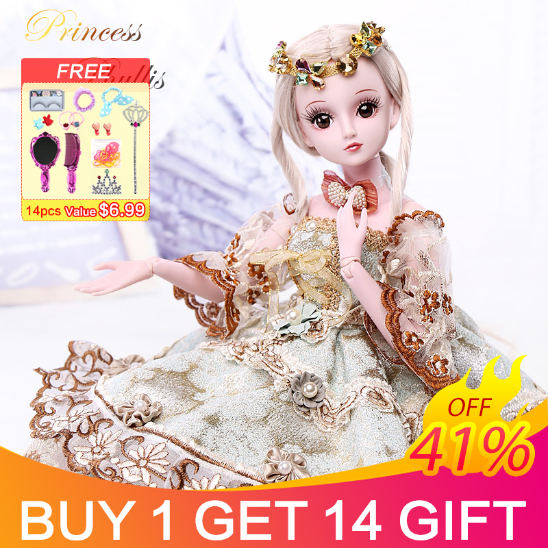 UCanaan 19 Joints 23.6 BJD SD Doll with Clothes Outfit Shoes Wig Hair Makeup for Girls Gift and Dolls CollectionUCanaan 19 Joints 23.6 BJD SD Doll with Clothes Outfit Shoes Wig Hair Makeup for Girls Gift and Dolls Collection