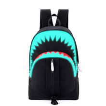Противоугонный рюкзак для ноутбука с рисунком акулы, Usb зарядка, школьная сумка для подростка, дорожная сумка для мужчин Ml027