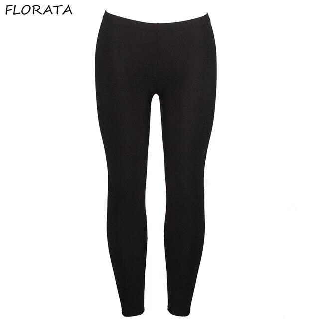 aeedb13d96d6b FLORATA women push up slim leggings fashion new style hot shine legging  girl black leggings pants summer autumn fitness New