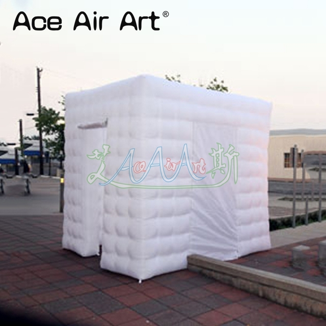 Customized inflatable photo booth backdrop cabinet enclosure,event party cube photo tent with 10 pcs spotlights for Mexico